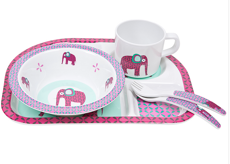 Toddler Dish Set - Wildlife Elephant [it] Set per la pappa - Elefante