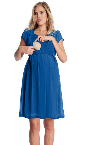 Jodie Cap Sleeve Chiffon Dress [it] Abito premaman e allattamento Jodie