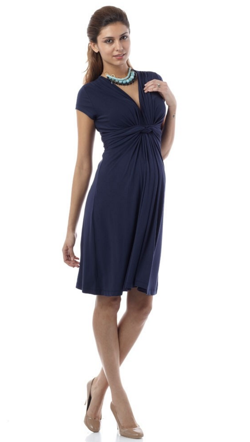 Jolene Front Knot Maternity Dress [it] Abito Premaman con nodo davanti – Jolene