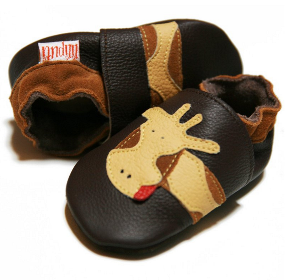 Liliputi soft baby shoes - Brown Giraffe [it] Scarpine morbide in pelle Liliputi - Giraffa marrone