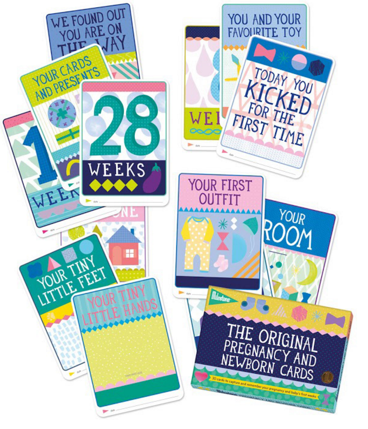 The Original Pregnancy and Newborn Milestone Cards (English)