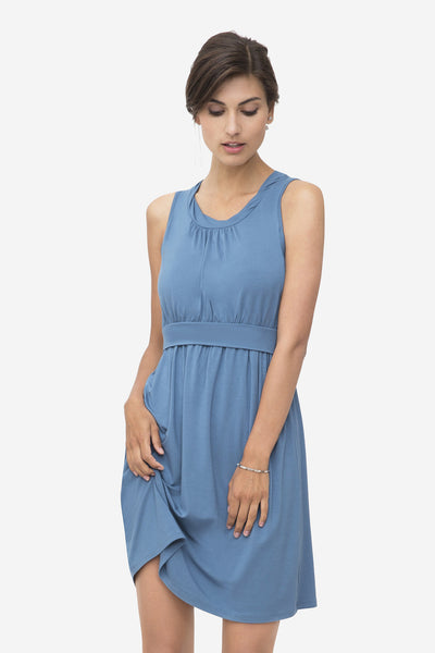 Sleeveless Maternity and Nursing Dress Zoo [it] Vestito senza maniche prémaman e allattamento Zoo