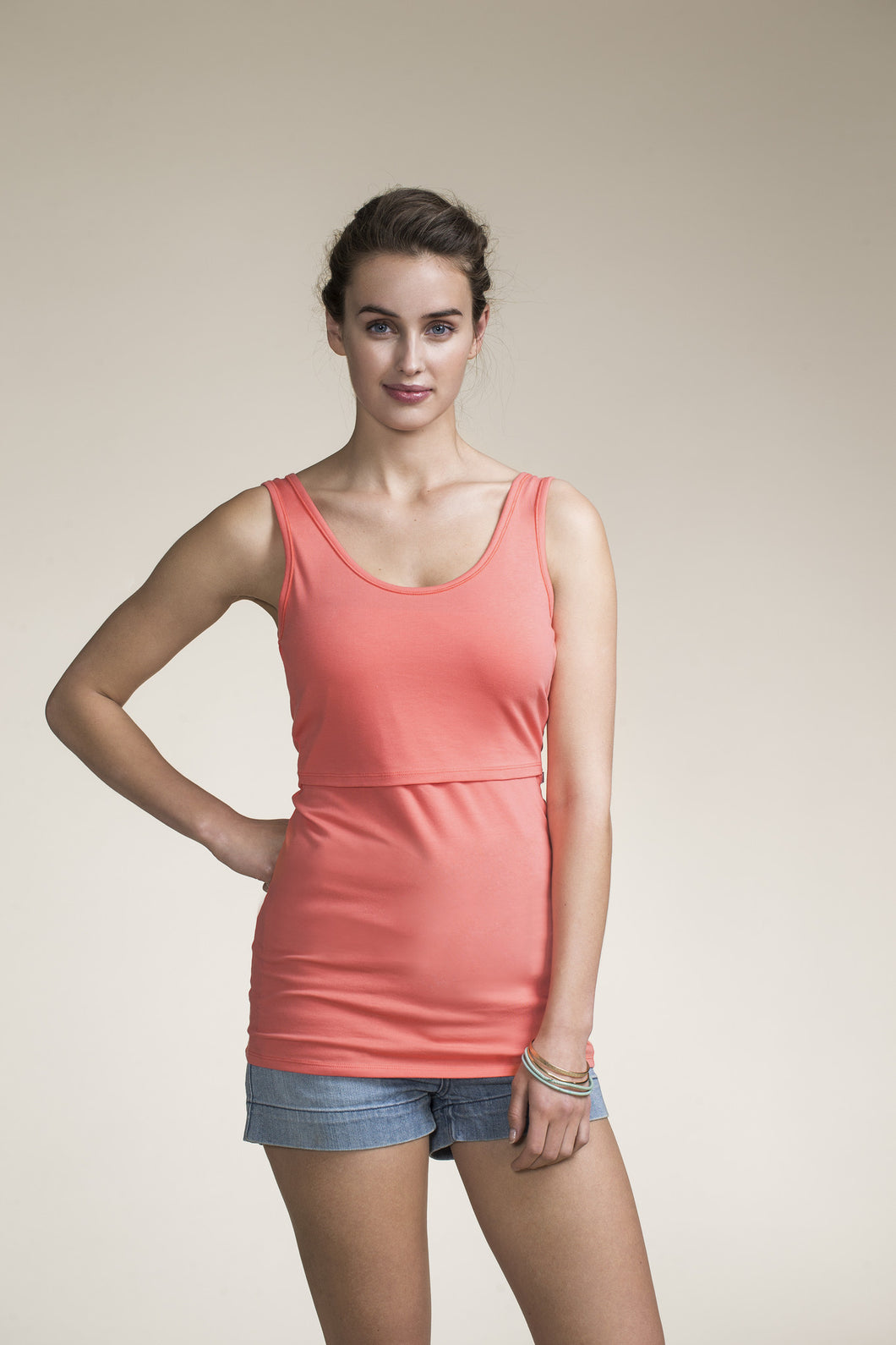 Nursing Singlet - Watermelon [it]Canottiera premaman e Allattamento - Anguria