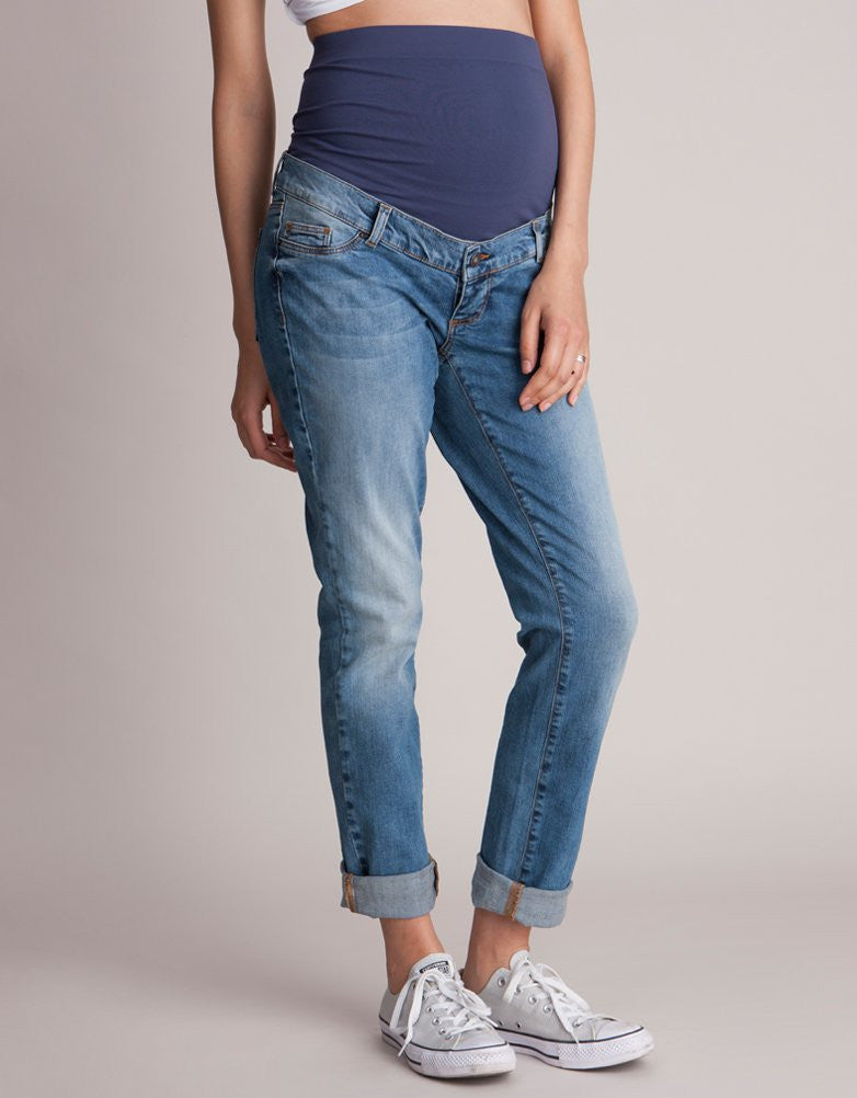 Carson Over Bump Maternity Boyfriend Jeans