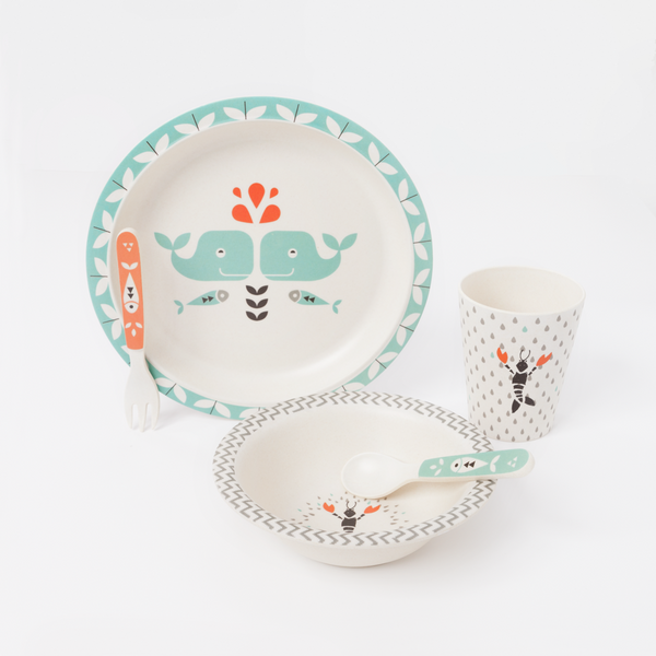 Bamboo Plate Set by Fresk [it] Set Pappa in Bamboo Fresk