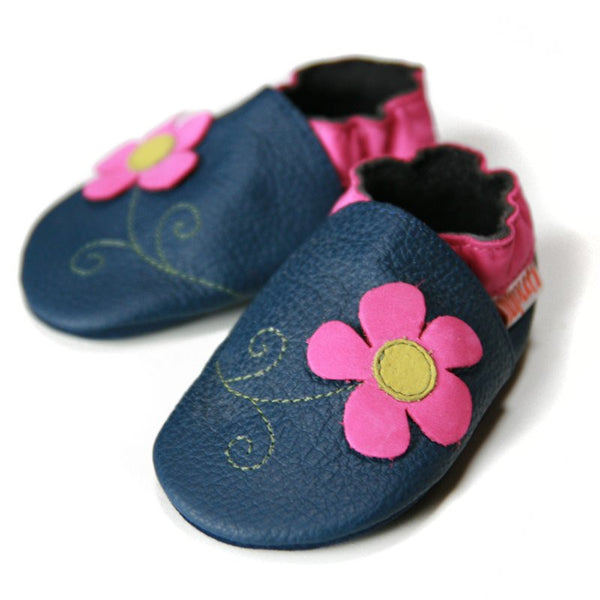 Soft Baby Shoes - Spring Flower [it] Scarpine morbide in pelle - Fiore di primavera