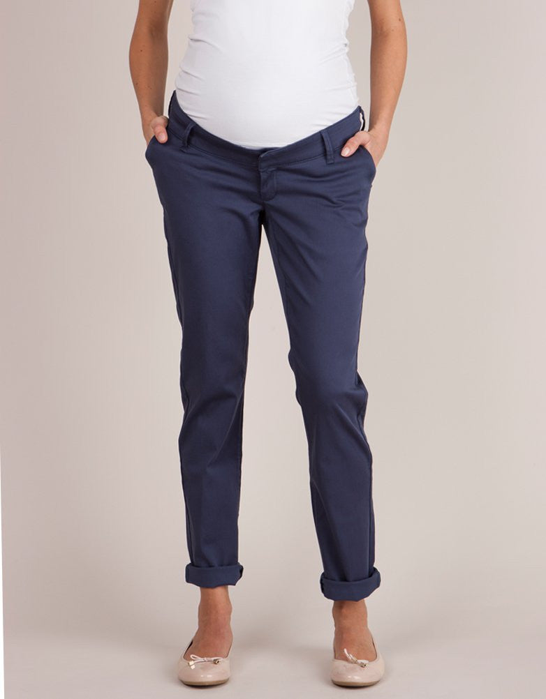 Olga Summer Overbump Chinos Navy Blue