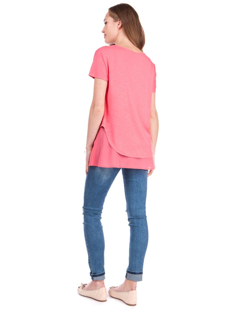Roxanne Jersey Woven Layer Top
