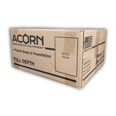 Acorn Deep Foundation - HEAVY Waxed - 100 Count Case Black Foundation