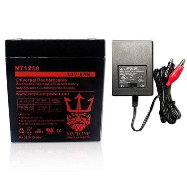12 Volt Battery With Charge Cord