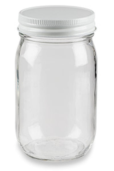 16 oz Clear Glass General Purpose Jar - Lid Included