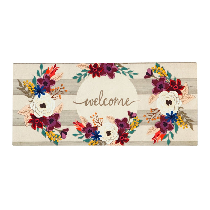 Fall Stripes Welcome Sassafras Switch Mat