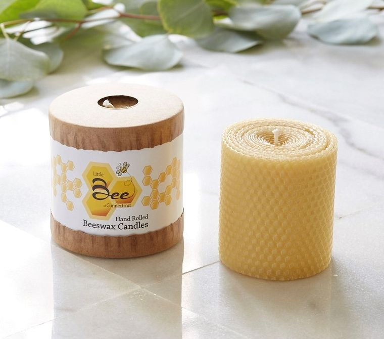 "3"" Hand Rolled Beeswax Pillar Candle"