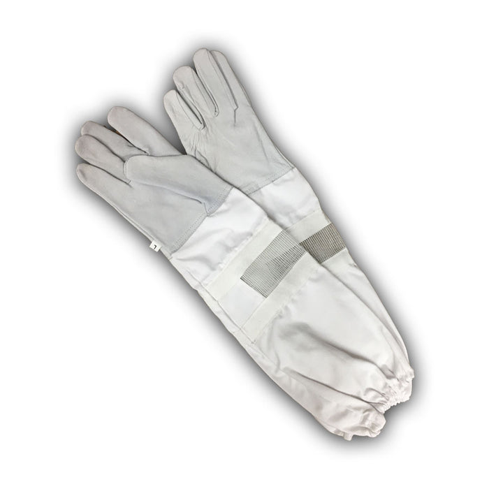 Size Beekeepers White Leather Gloves 2XS
