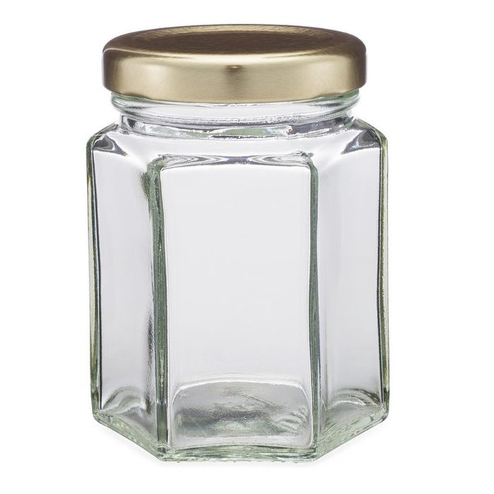 3.7oz Hex Jar -  Lid Included