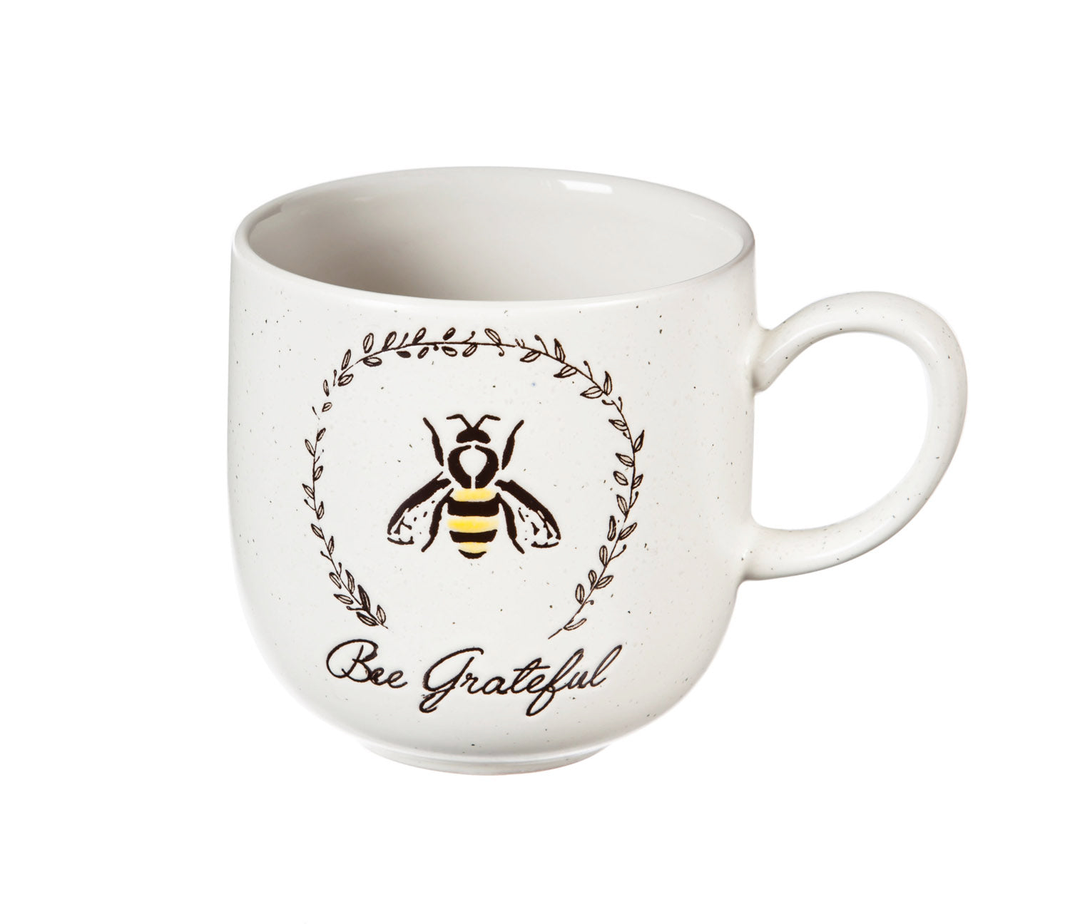 12oz Ceramic Mug-Bee Grateful