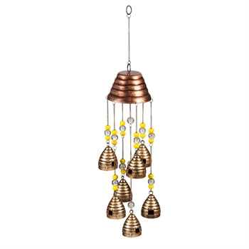 "26"" Wind Chime, Beaded Beehives"