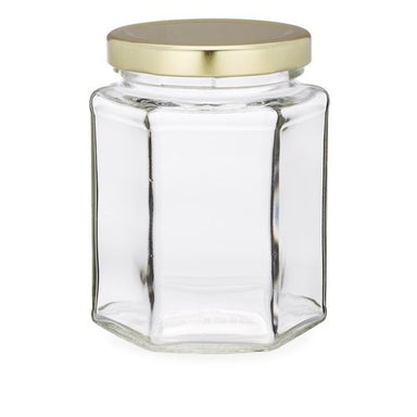 6oz Hex Jar - Count Case - Lids Included