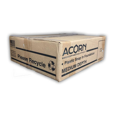Acorn Medium Foundation - Triple Waxed - 100 Count Case White Foundation