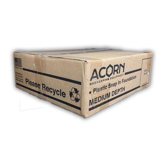 Acorn Medium Foundation - HEAVY Waxed - 100 Count Case White Foundation