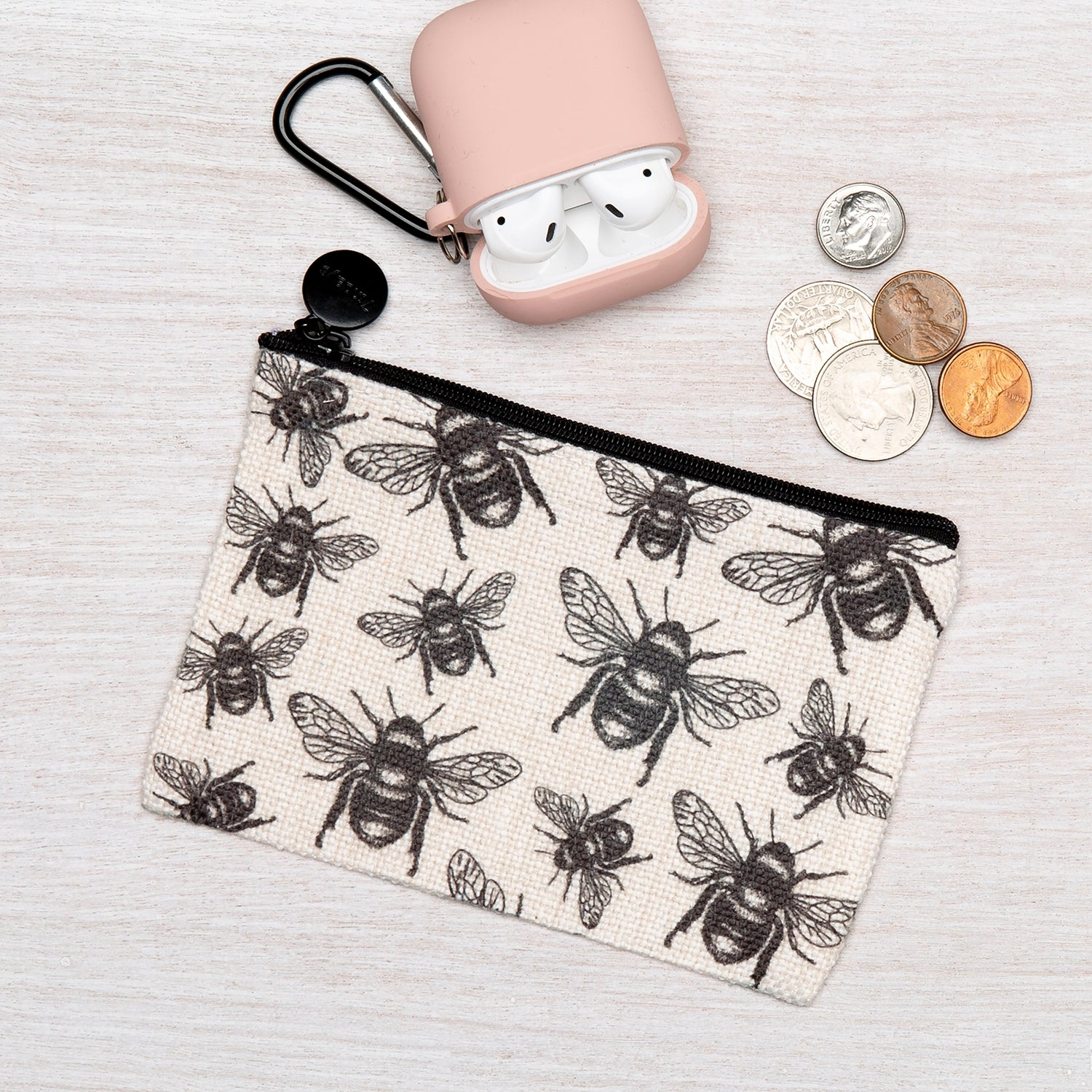 Small Bee Zipper Pouch