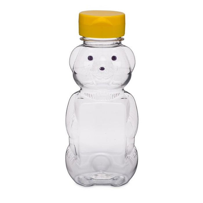 8oz Honey Bear With Flip Top Lid - Double Label Panel
