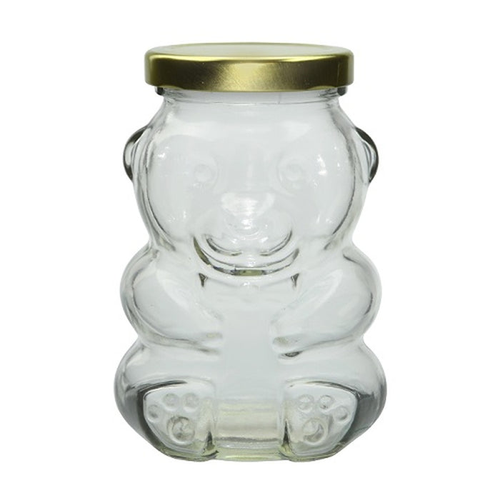 8oz Glass Bear w/Lid