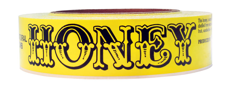 Yellow/Black - Roll of 100