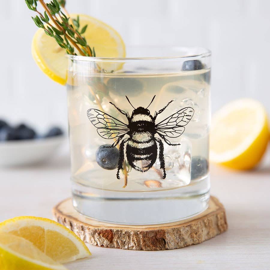 Bee Whiskey Glass