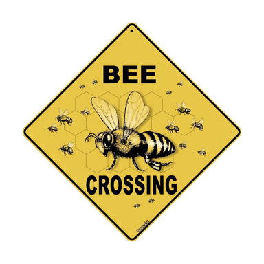 Bee Crossing Novelty Sign