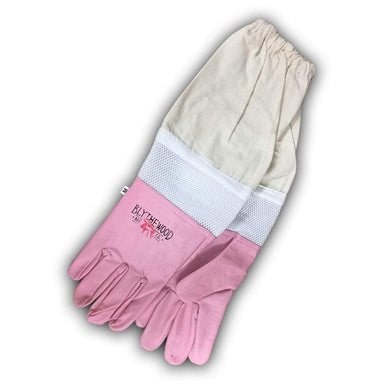 Pink Vented Beekeeping Gloves