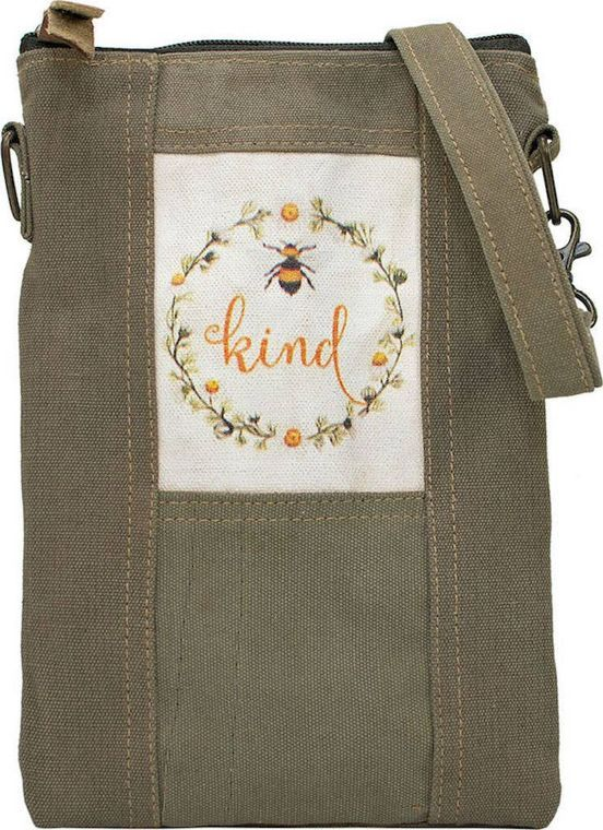 Bee Kind Recycled Tent Crossbody