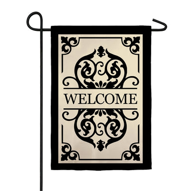 Cambridge Welcome Garden Applique Flag