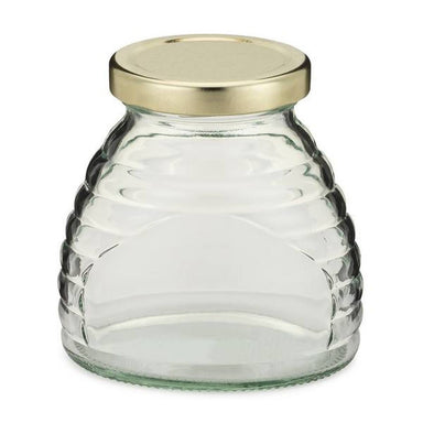 12 oz. Glass Skep Honey Jars - 12 Count Case - Includes Lids