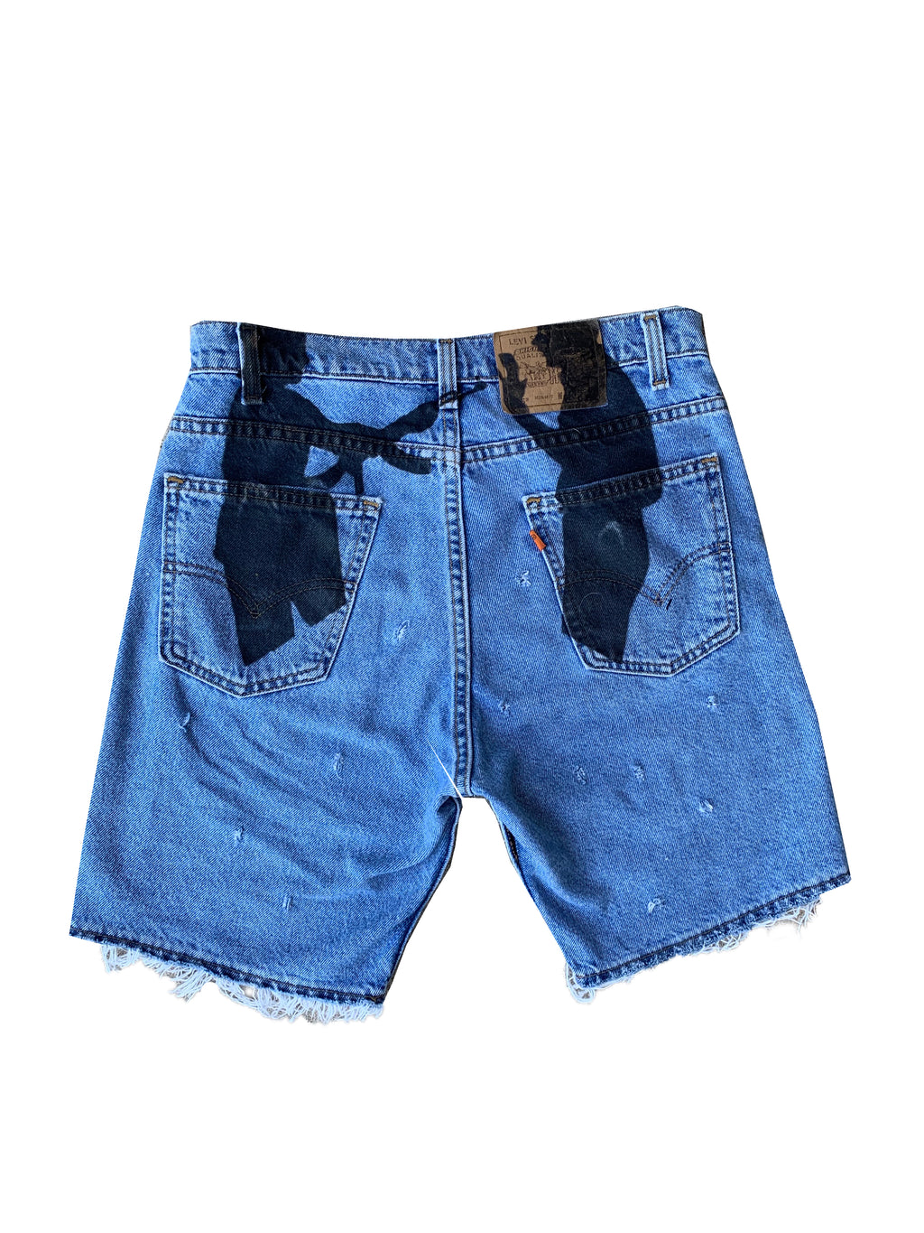 gimme the loot denim shorts