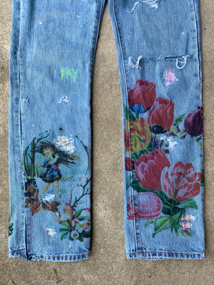 Flower Ad Denim