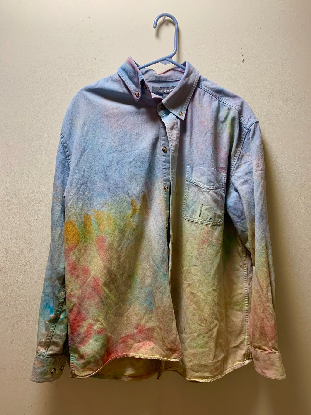 Dye rag canvas button up 1/1 never ever ever seen again size large
