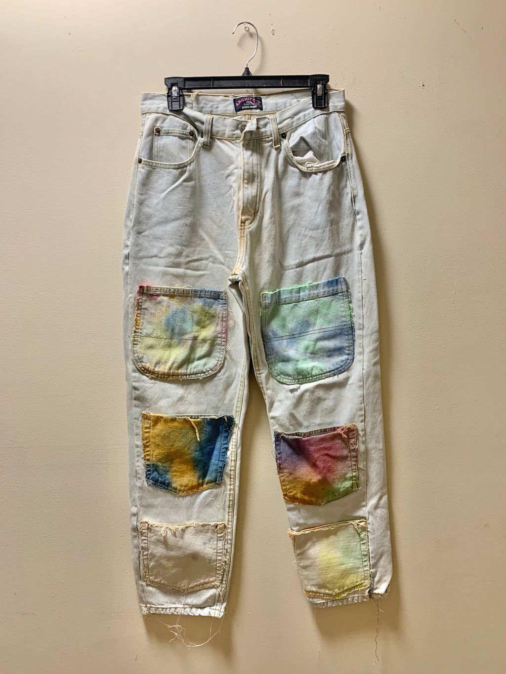 1/1 hand dyed pocketed denim size 32x30