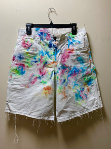 1/1 size 30 marble dye shorts 1/1 never to be seen again