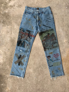 Personal i thank god for these blessings denim worn by me size 30 x 31/32