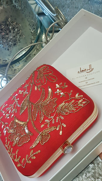 Alliya - Rose Silk Exclusive Clutch