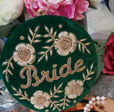 Bride -  Velvet Personalised Clutch