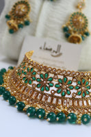 Diya - Green Necklace Set