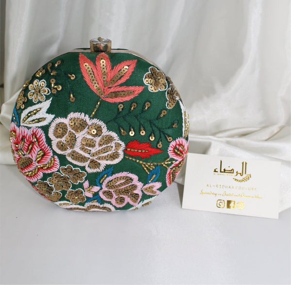 Amina - Rose Silk Exclusive Clutch