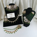 Anaya -  Kundan Bridal Set (Green)