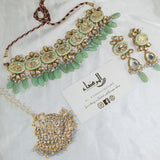 Nora - Pistachio Green Necklace