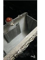 Mother of Pearl Clutch - Silver
