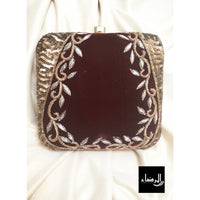 Zakiya - Square Embroidery Clutch