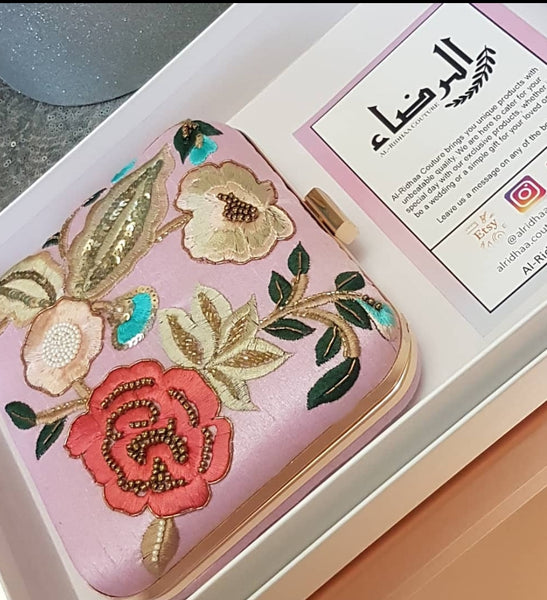 Humairaa - Rose Silk Exclusive Clutch