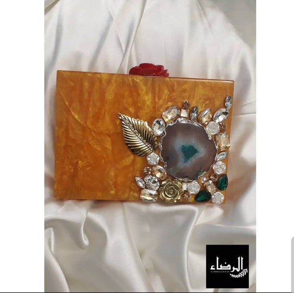 Honey -  Pearl Resin Clutch